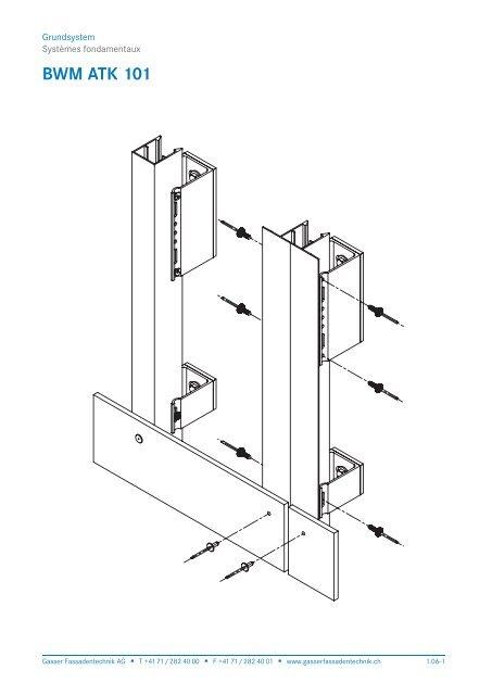 Schnittzeichnung BWM ATK 101 - Gasser Fassadentechnik