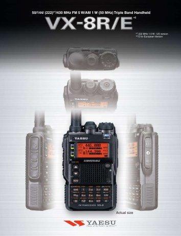 1/430 MHz FM 5 W/AM 1 W - Yaesu