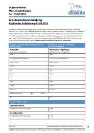 A.1. Ausstelleranmeldung - KOSMETIK international