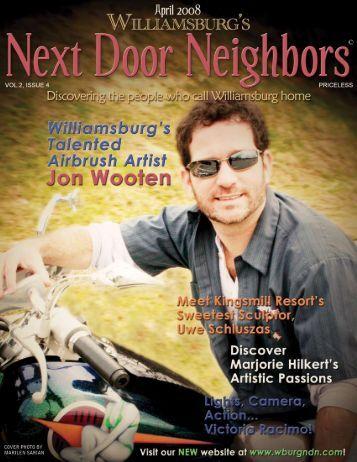 April - Williamsburg , VA Magazine , Next Door Neighbors