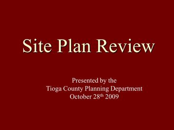 Site Plan Review - Tioga County