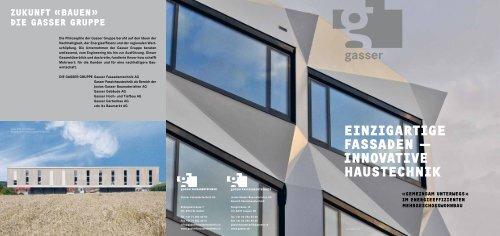 innovativE haustEchnik - Gasser Baumaterialien AG