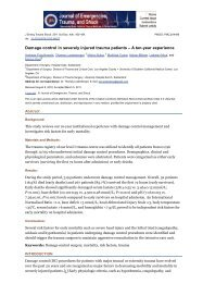 Damage control in severely injured trauma patients – A ... - Spital Uster