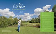 A Guide to Golf in Our Own Backyard