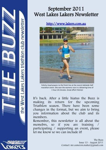 September 2011 West Lakes Lakers Newsletter - the Lakers ...