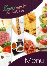 Click to see full menu... - Bruno's Restaurant and Wine Bar