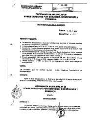 Derechos por Servicios, Concesiones y Permisos - Municipalidad ...