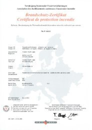 Schweizerisches Brandschutz-Zertifikat Fassadenverkleidung