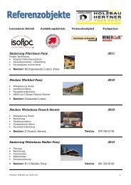 Referenzliste Bauten PDF - Holzbau Hertner AG