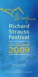 Förderkreis Richard-Strauss-Festspiele eV - Richard Strauss Festival