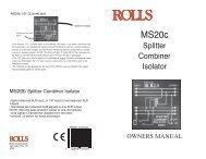 MS20c Mic Splitter/Combiner/Isolator - Rolls Corporation