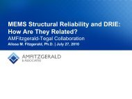 MEMS Structural Reliability and DRIE - AMFitzgerald