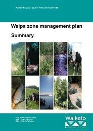 Waipa Zone Management Plan Summary - Waikato Regional Council