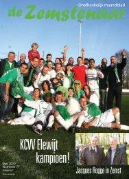 KCVV Elewijt kampioen! - De Zemstenaar