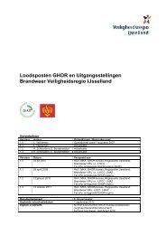 Loodsposten GHOR en Uitgangsstellingen Brandweer ...