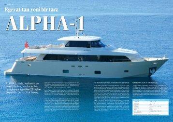 Egeyat'tan yeni bir tarz ALPHA-1 - Aegean Yacht Brokers