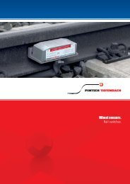 Wheel sensors. Rail switches. - Tiefenbach GmbH