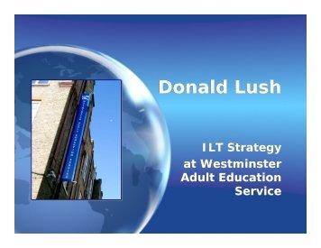 Donald Lush - RSC London