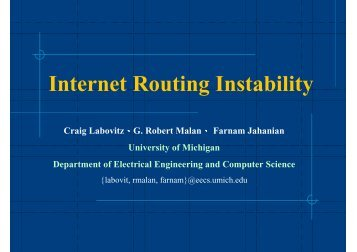 Internet Routing Instability - High Speed Network Lab @ NCTU