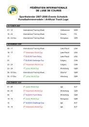Sportkalender 2007-2008 Events Schedule ... - CBLS