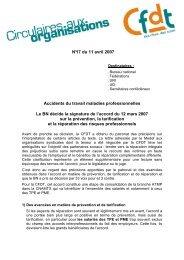 Accidents du travail maladies professionnelles - CFDT Santé Sociaux