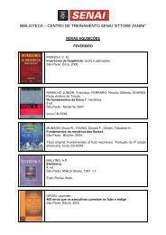 "biblioteca – centro de treinamento senai ""ettore zanini"""