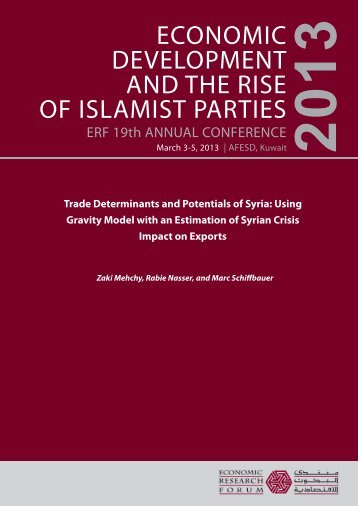 Trade Determinants and Potentials of Syria - Economic Research ...