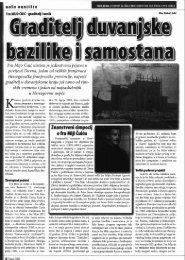 Graditelj duvanjske bazilike i samostana - Pobijeni.info