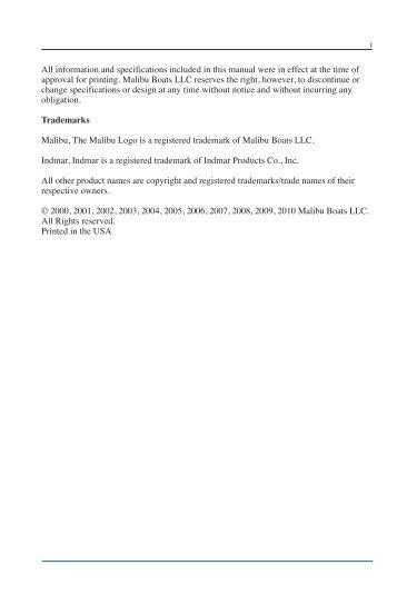 malibu boats owner s manual 2003 pdf bakes online rh yumpu com All-Black 2004 Malibu 2004 Malibu 21 LSV