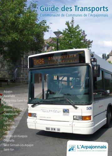 Guide des Transports - Communauté de Communes Arpajonnais