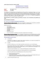 Recommandations et standards : Troubles du développement ...
