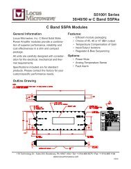 S51001 Series 30/40/50 w C Band SSPAs C Band SSPA ... - Codan