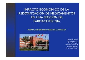impacto economico de la redosificacion de medicamentos en una ...