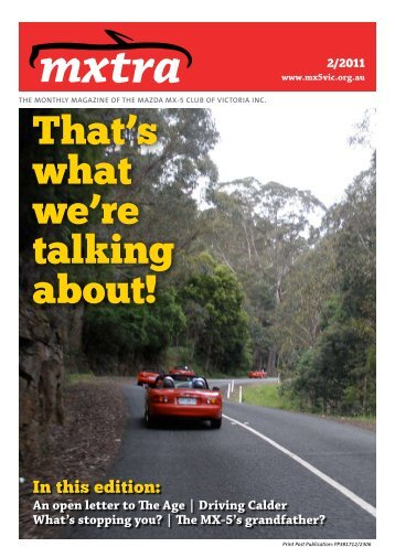 February - Mazda MX-5 Club of Victoria & Tasmania