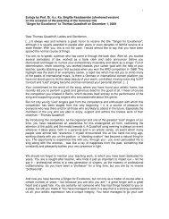 Eulogy by Prof. Dr. h.c. Ks. Brigitte Fassbaender ... - Thomas Quasthoff
