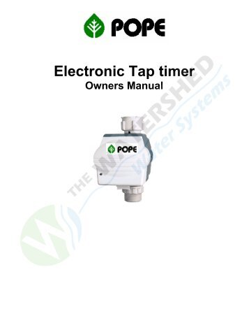 Electronic Tap Timer (1010332).pdf - Pope Products