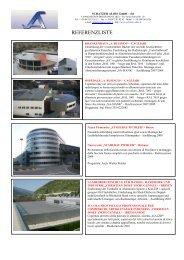 lista referenze di diversi progetti - Alois Schatzer