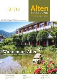 01 | 13 Wohnen im Alter - Verband der Seniorenwohnheime Südtirols