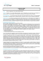 Effectif : 24 participants L'APPEL DU LARGE De 12 ... - Léo Lagrange
