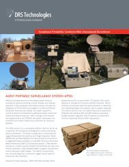agent portable surveillance system (apss) - DRS Technologies