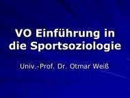 Einführung in die Sportsoziologie - Institut für Sportwissenschaft