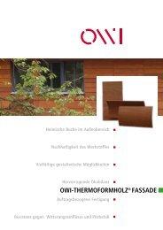OWI-THERMOFORMHOLZ® FASSADE - OWI GmbH