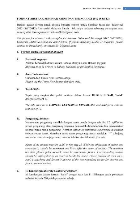 Format dan Contoh Abstrak.pdf - SST - Sekolah Sains & Teknologi ...