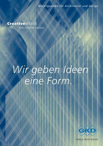 Wir geben Ideen eine Form. - E. Pfister & Cie AG