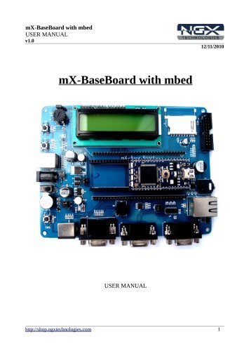 mX-BaseBoard with mbed