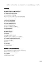 """1 von 7 Satzung """"Iurratio – juristische Nachwuchsförderung e.V. ..."""