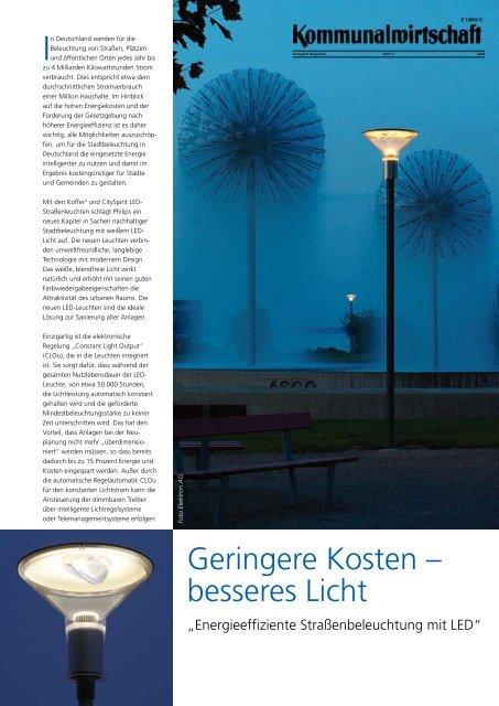 Geringere Kosten – besseres Licht
