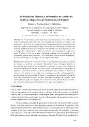 Influência das Técnicas e Informações no Auxílio de ... - LISHA