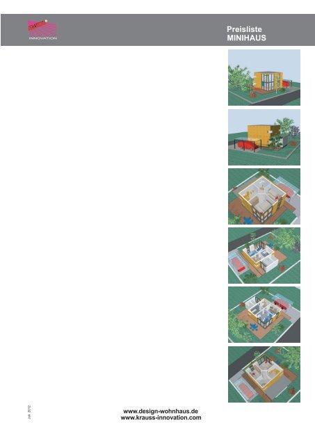 Preisliste minihaus design wohnhaus for Minihaus bausatz