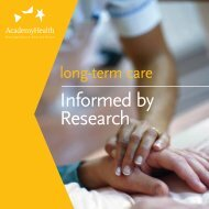 Long-Term Care: Informed by Research - AcademyHealth